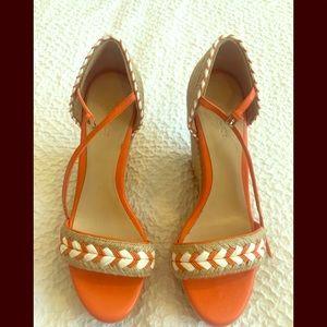 GUCCI Tiffany Espadrille Wedge Platform Sandals